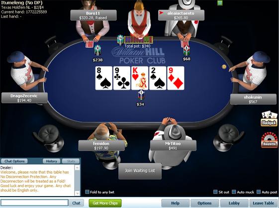 william hill poker game