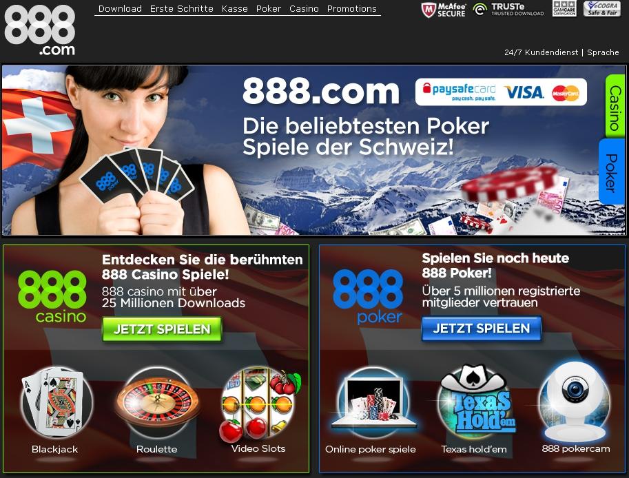888poker verkündet den Start von 888poker Schweiz!
